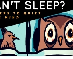 Can't Sleep?  3 Steps To Quiet the Racing Mind